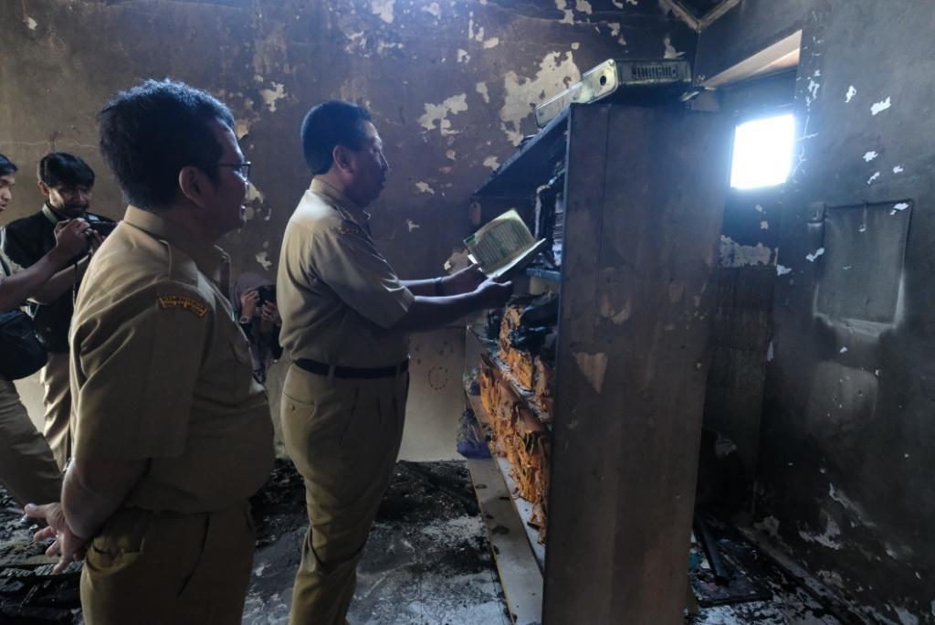 Beri Bantuan, Walikota Magelang Sambangi PAUD/TK Asy Syaffa' 2 yang Terbakar