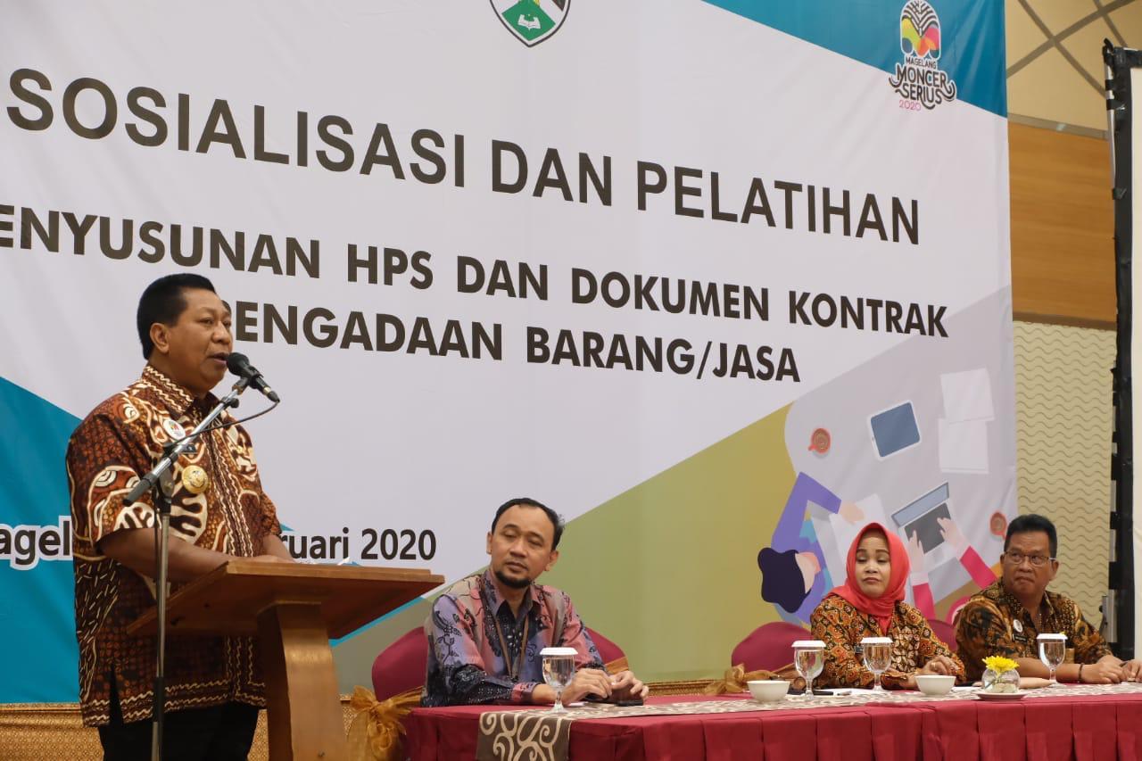 Pejabat Pembuat Komitmen Kota Magelang Dilatih Penyusunan HPS