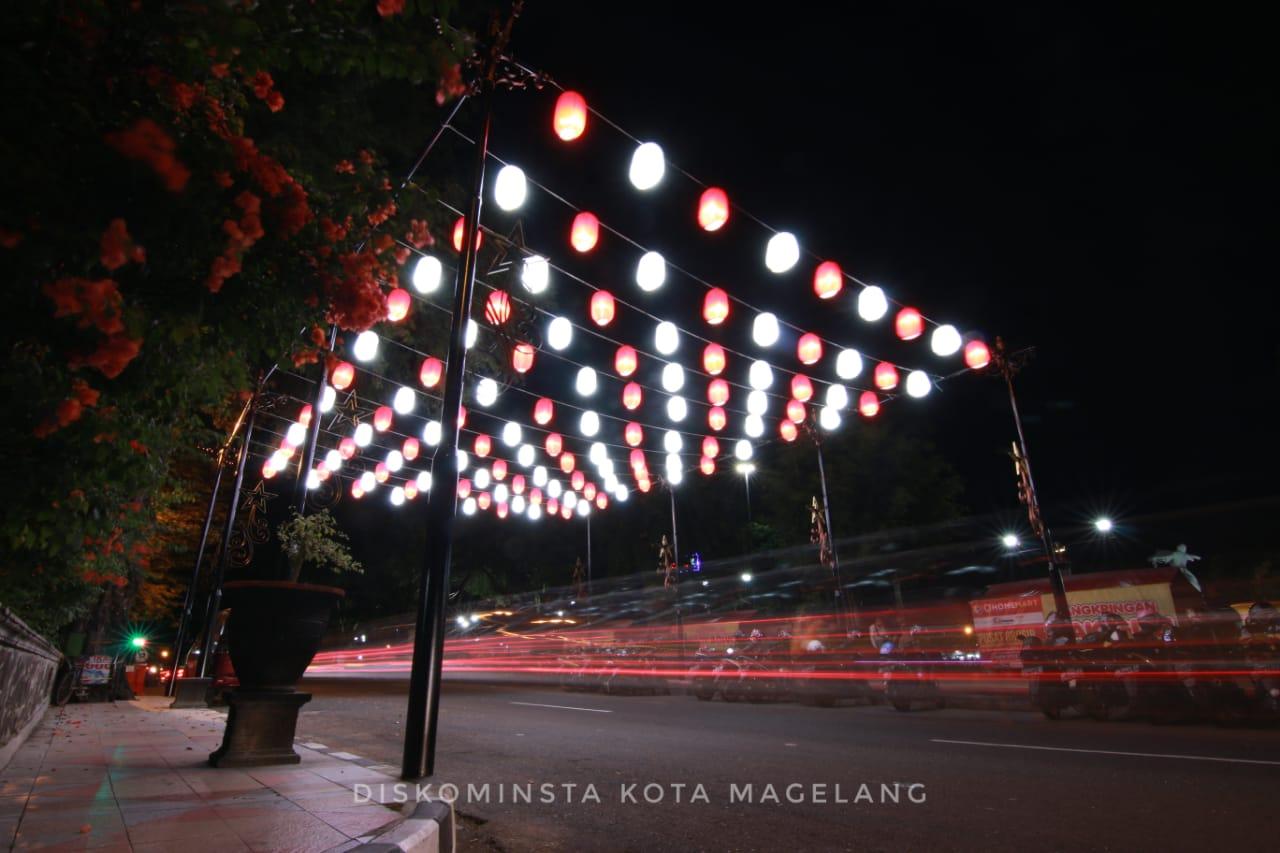 Lampion Sambut HUT RI di Kota Magelang