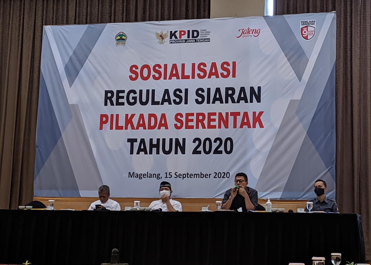 KPID JATENG SELENGARAKAN SOSIALISASI REGULASI SIARAN PILKADA SERENTAK TAHUN 2020