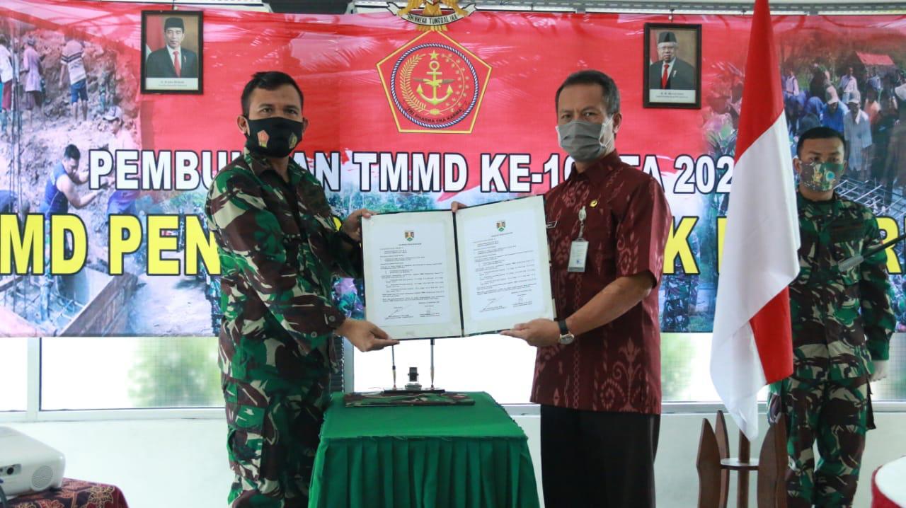 TNI DAN PEMKOT MAGELANG TINGKATKAN SINERGI DALAM AKSELERASI PEMBANGUNAN MELALUI TMMD SENGKUYUNG