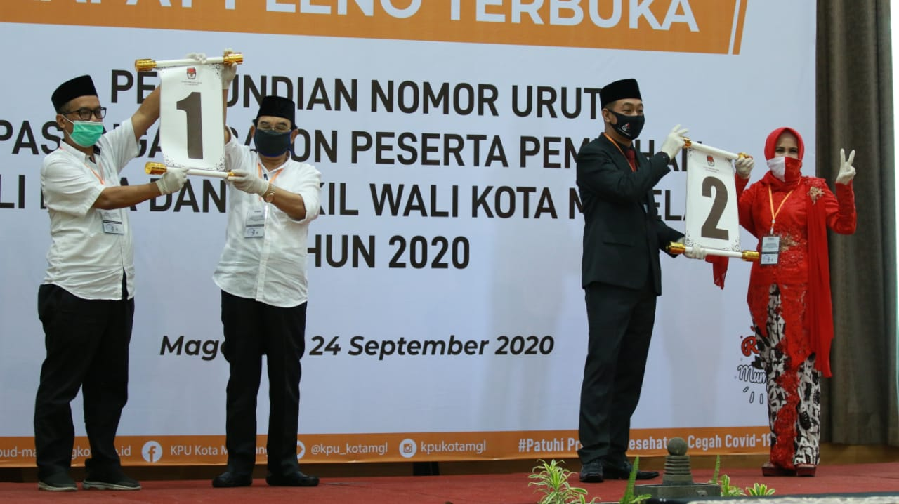 SAH! INI DAFTAR NOMOR URUT PASLON PILKADA KOTA MAGELANG TAHUN 2020